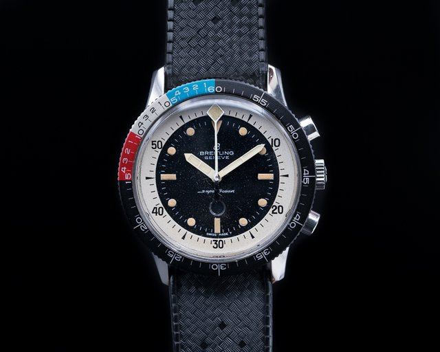 "Breitling Vintage Breitling SuperOcean ""Slow Counter"" Yachting Bezel"