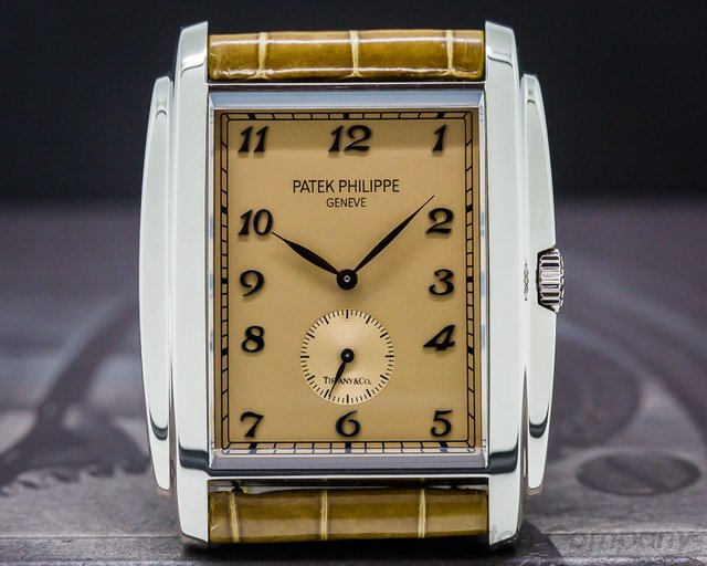 "Patek Philippe Gondolo ""TIFFANY & CO"" 18K White Gold Manual Wind"