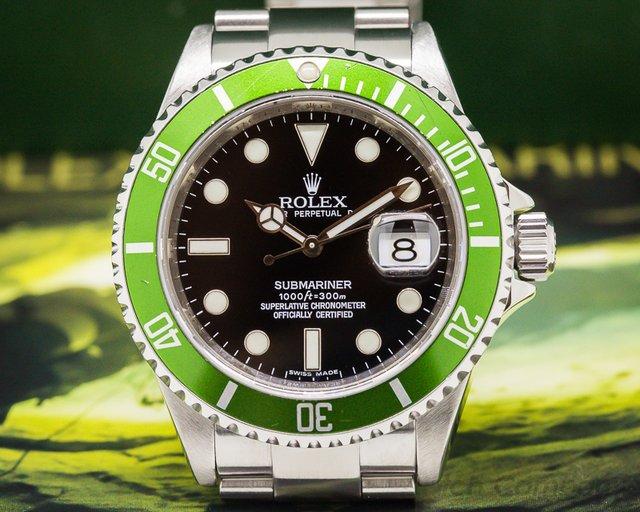 Rolex Submariner 50th Anniversary SS Green Bezel