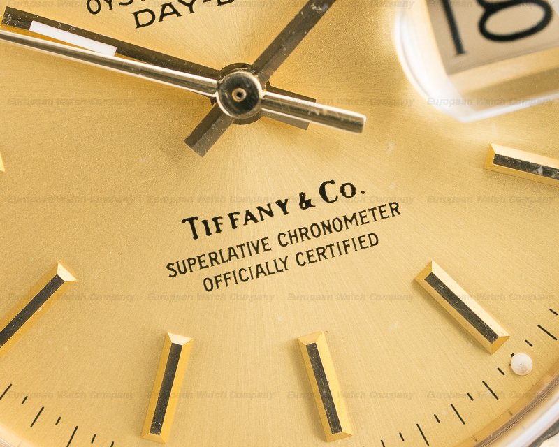 "Rolex 18038 Day Date ""TIFFANY & CO"" Yellow Gold / President Bracelet"