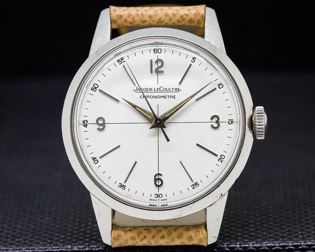 Jaeger LeCoultre Vintage Chronometre Geophysic SS Circa 1958 RARE