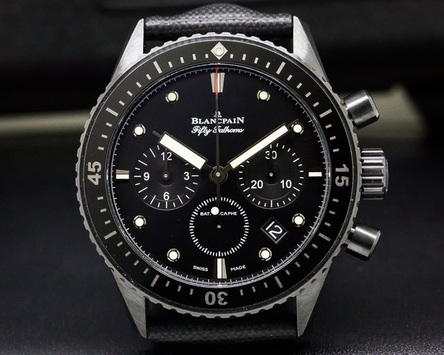 Blancpain Fifty Fathoms Bathyscaphe Flyback Chronograph UNWORN Cera
