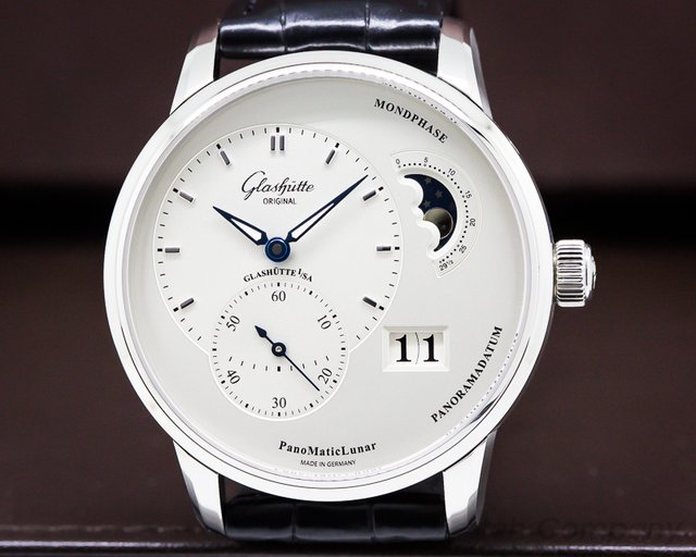 Glashutte Original Panomatic Lunar SS / Leather