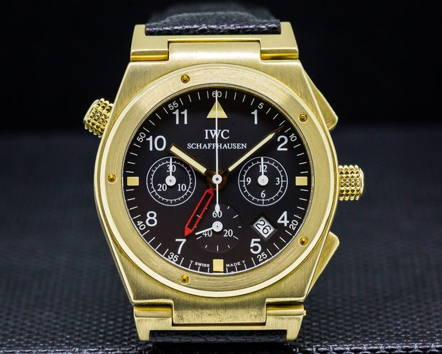 IWC 3815-007 Ingenieur Chronograph Alarm / 18K Yellow Gold