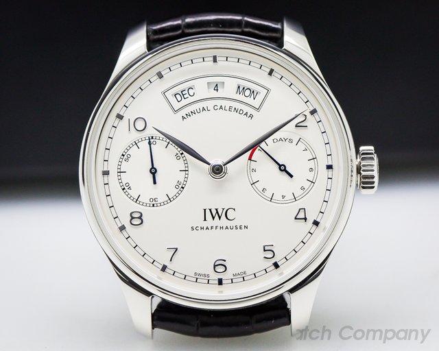 IWC Portuguese Annual Calendar SS Silver Dial