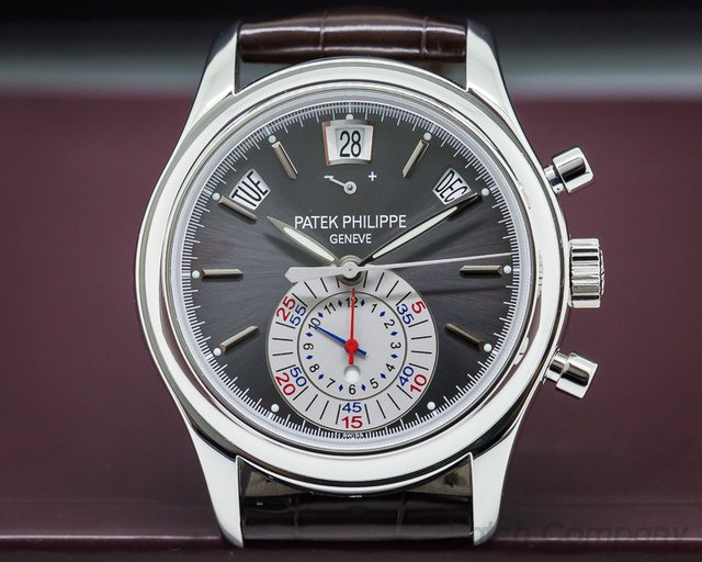 Patek Philippe Annual Calendar Chronograph Platinum Grey Dial