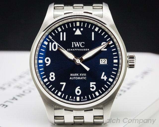 IWC Mark XVIII Le Petite Prince Blue Dial SS