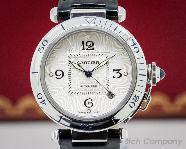 Cartier Pasha Automatic Silver Dial SS 38MM