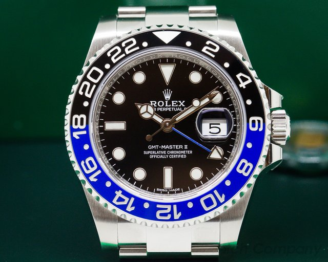 Rolex BLNR GMT Master II Ceramic Black & Blue SS