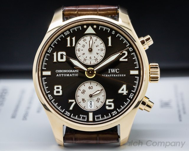 IWC IW387805 Pilots Chronograph Edition Antoine de Saint Exupery 18K Rose Gold