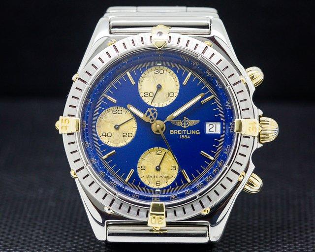 Breitling Chronomat Blue Dial SS / 18K