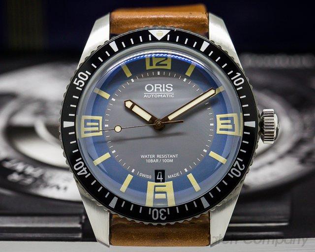 Oris Divers Sixty-Five Blue/Grey Dial