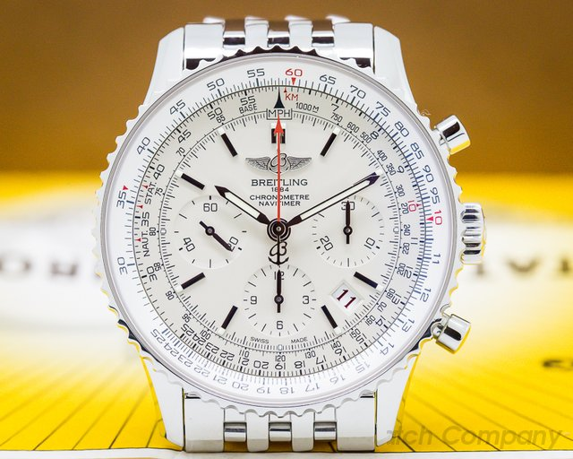 Breitling Navitimer 01 Limited Edition Chronograph Silver Dial SS