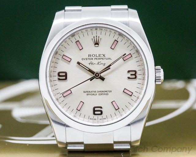 Rolex Air King Silver Dial SS