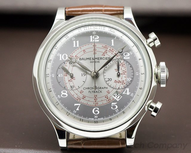 Baume & Mercier Capeland Flyback Chronograph Grey Dial 44MM SS / SS