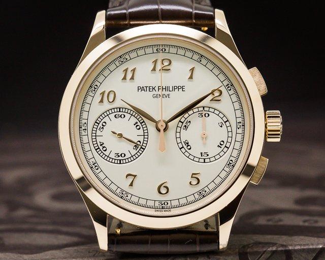 Patek Philippe Chronograph 18K Rose Gold Silver Dial