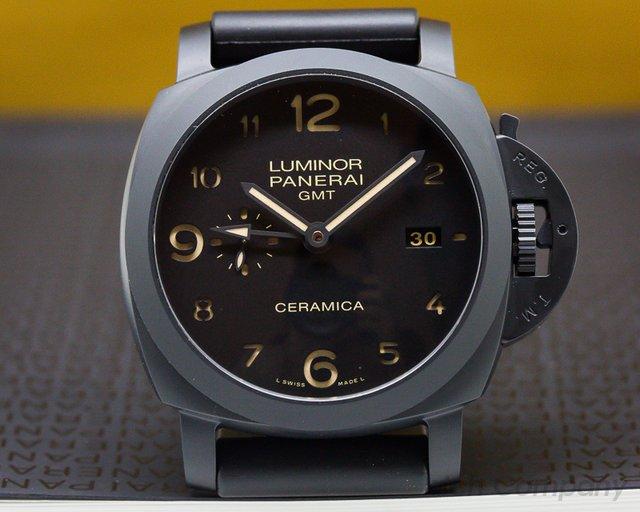 Panerai Luminor 1950 3 Day GMT Black Ceramic AS NEW