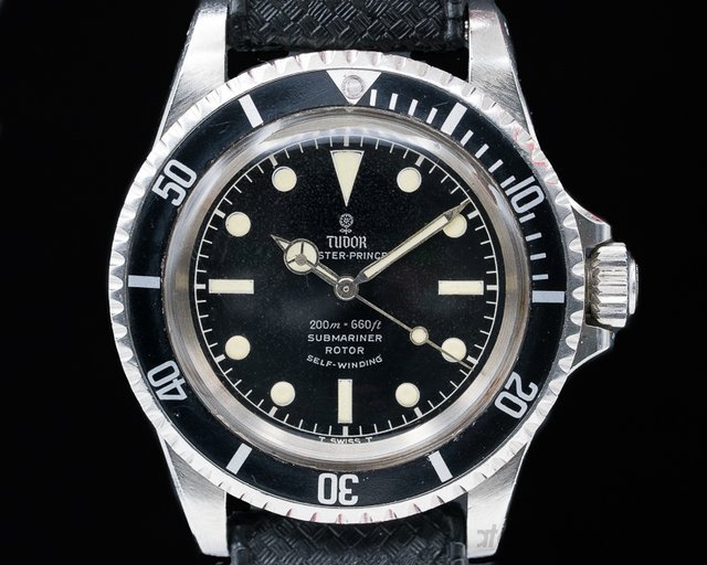"Tudor 7928 Vintage Submariner ""Rose Logo"" Gilt Chapter Ring FANTASTIC"