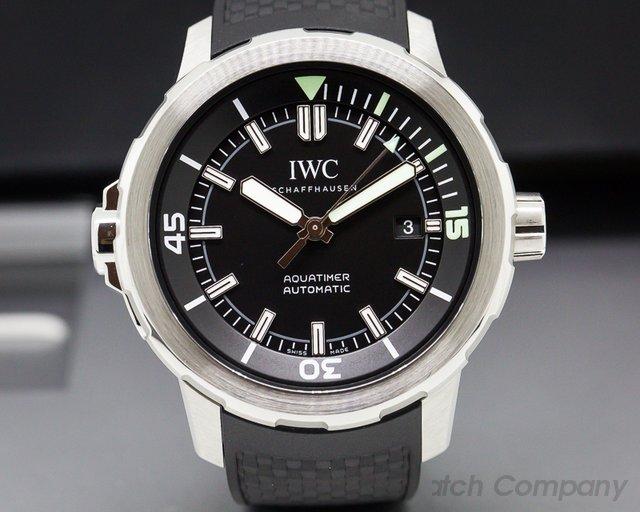IWC Aquatimer Automatic Black Dial SS / Rubber Strap