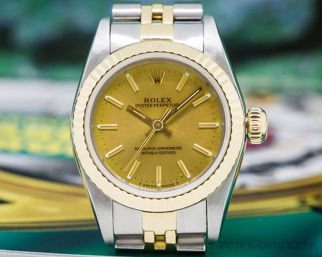Rolex 6719 Oyster Perpetual Ladies Datejust Champagne Dial