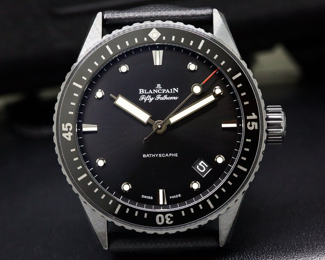 Blancpain 5000-0130-B52A Fifty Fathoms Bathyscaphe Ceramic