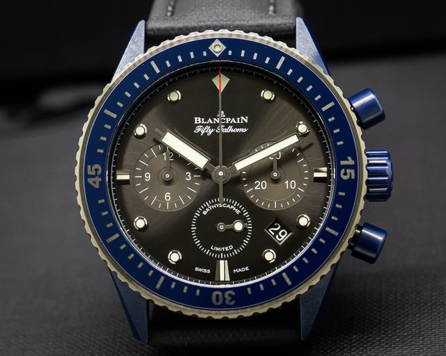 Blancpain 5200-0310-B52A Fifty Fathoms Bathyscaphe Chronograph Ocean Commitment II UNWORN