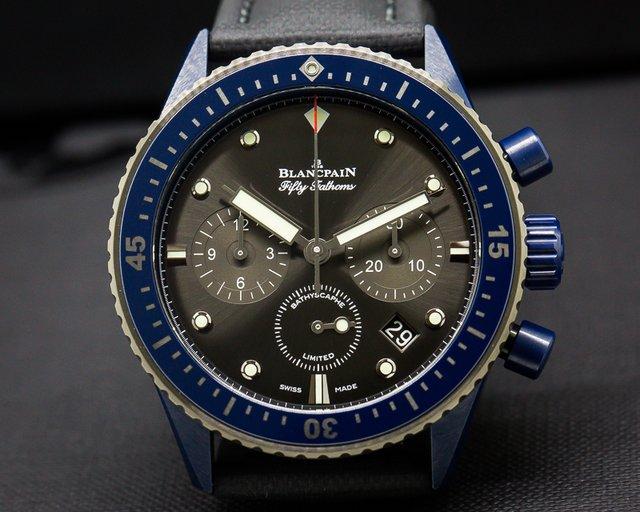 Blancpain Fifty Fathoms Bathyscaphe Chronograph Ocean Commitment II UNWORN