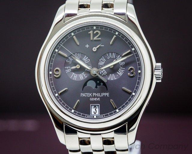 Patek Philippe Annual Calendar 18K White Gold/White Gold Bracelet Slate Dial