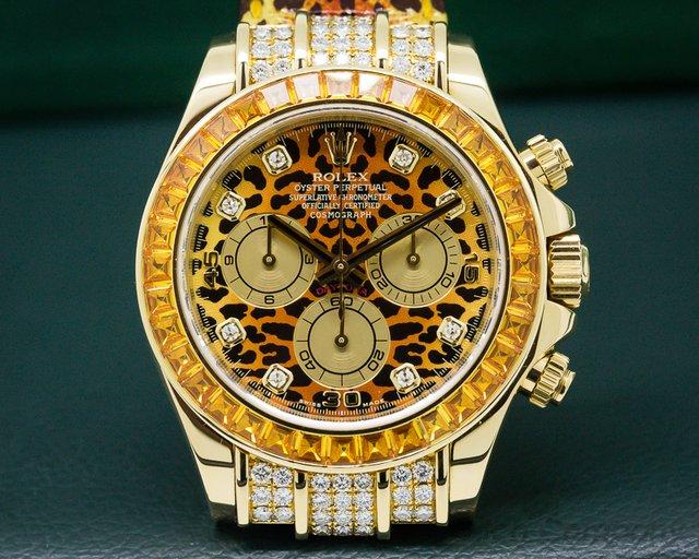 Rolex Cosmograph Daytona 18k Yellow Gold / Diamonds LEOPARD