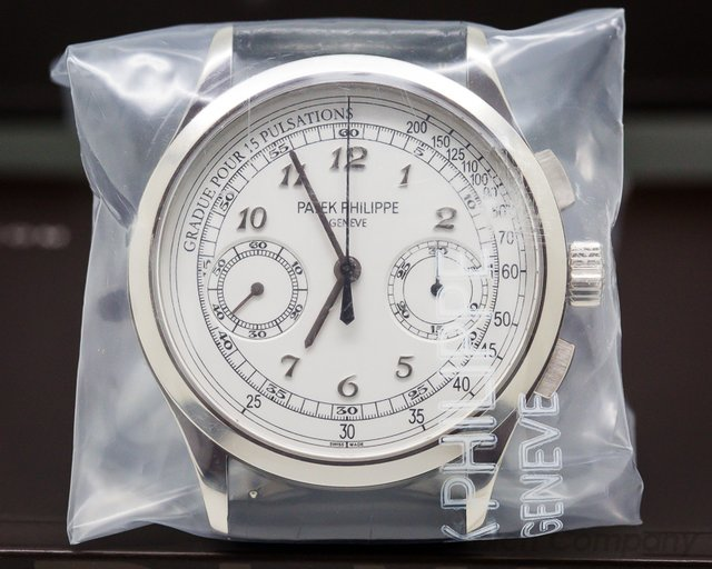 Patek Philippe Chronograph 18K White Gold / Silver Pulsation SEALED
