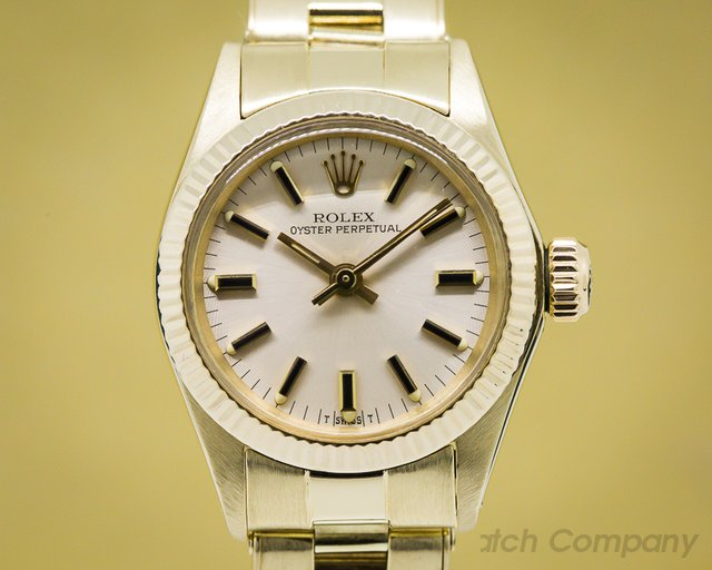 Rolex Oyster Perpetual Ladies Yellow Gold