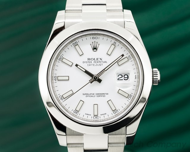 Rolex Datejust II SS White Dial