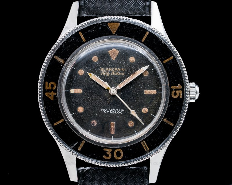 Blancpain Fifty Fathoms Rotomatic Vintage Gilt Fifty Fathoms Rotomatic Incabloc MILITARY + EARLY SN