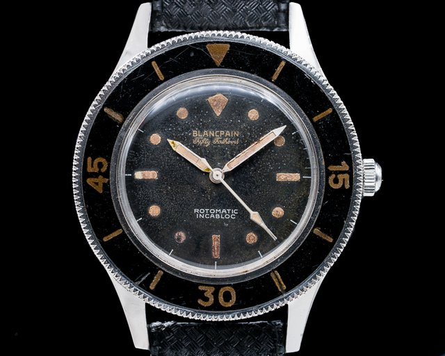 Blancpain Fifty Fathoms Aqualung Vintage Gilt Fifty Fathoms Aqualung Rotomatic MILITARY + EARLY SN