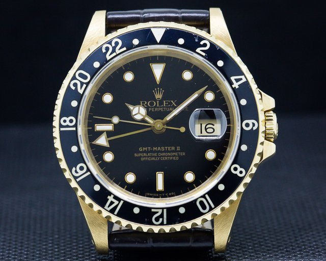 Rolex GMT Master II 18k Yellow Gold / Sharp