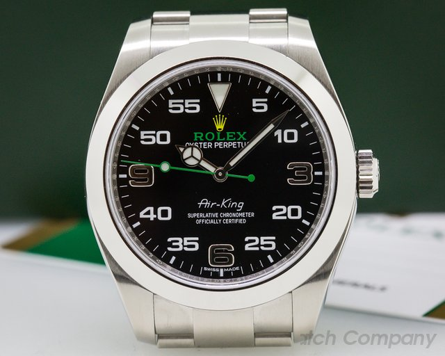 Rolex Air King Black Dial SS