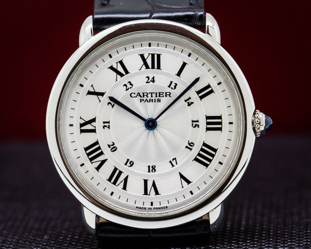 "Cartier  Ronde Louis ""Privee Collection"" Manual Wind Platinum"
