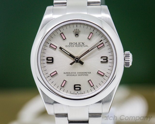 Rolex 177200 Oyster Perpetual Ladies Silver Dial