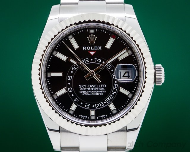 Rolex 326934 Sky Dweller Steel Black UNWORN
