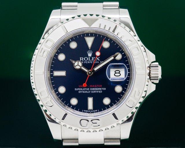 Rolex 116622 Yacht Master SS Blue Dial / Platinum Bezel