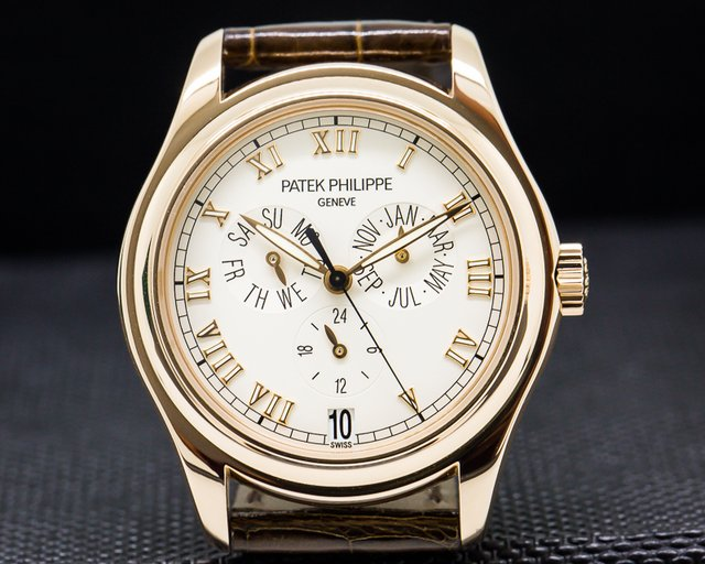 Patek Philippe Annual Calendar 18K Rose Gold Silver Dial