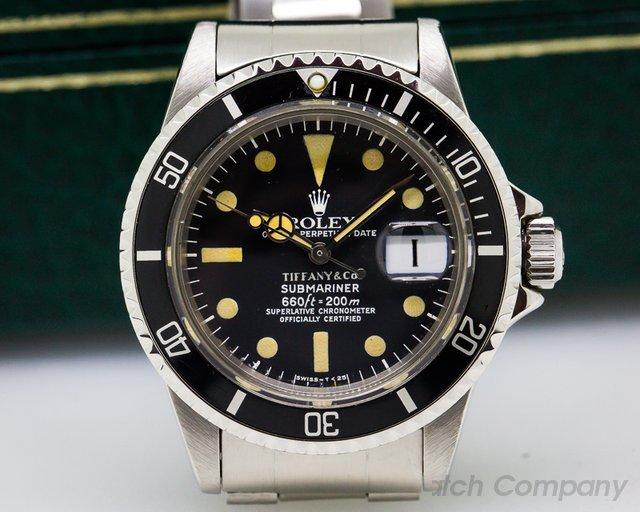 Rolex Submariner 1680 TIFFANY & CO SS / Bracelet Circa 1976