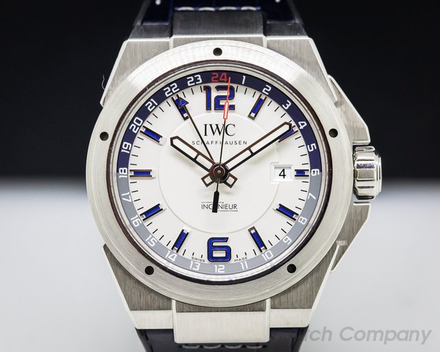 IWC IW324404 Ingenieur Dual Time SS / Blue Alligator + Bracelet