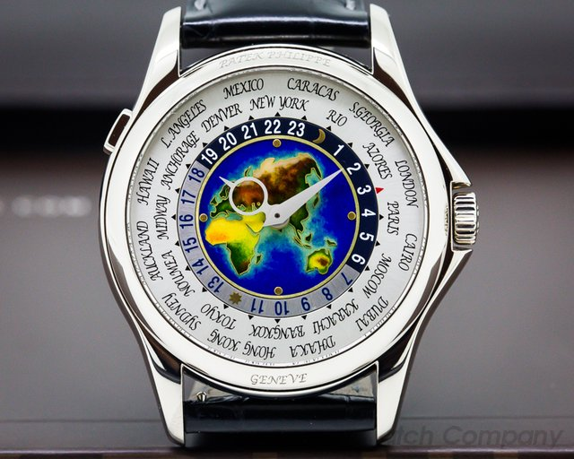 Patek Philippe 5131G-010 World Time Enamel Dial 18K White Gold