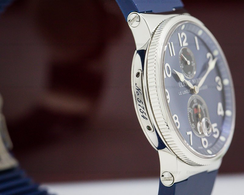 Ulysse Nardin 263-66-3/623 Marine Chronometer Blue SS / Blue Rubber