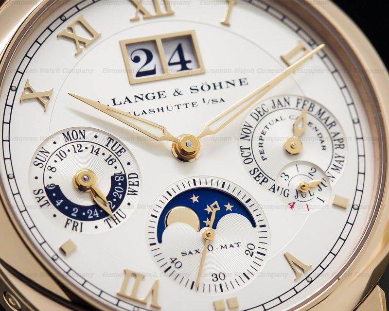 A. Lange and Sohne 310.032 Langematik Perpetual Calendar 18K Rose Gold / Deployment