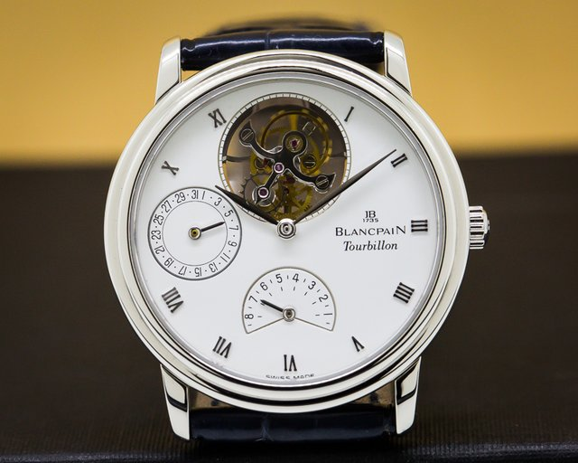 Blancpain 0023 Tourbillon Platinum Manual Wind 8 Days
