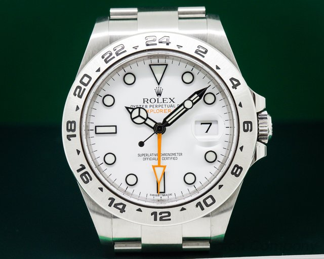 Rolex Explorer II White Dial SS / SS