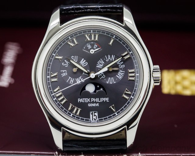 Patek Philippe Annual Calendar Power Reserve Grey Dial Platinum