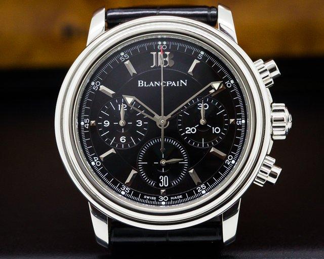 Blancpain 2185-1130-53 Leman Chronograph SS / Alligator